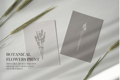 Botanical Flowers Print
