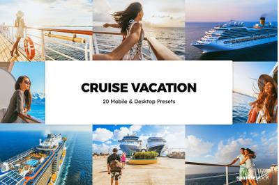 20  Cruise Vacation LR Presets