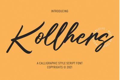 Kollhers Calligraphy Script Font