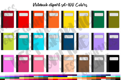 Notebook Back to School Clipart Set