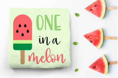One in a Melon Watermelon Popsicle | SVG | PNG | DXF | EPS