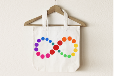 Autism Infinity Spectrum Rainbow | Embroidery