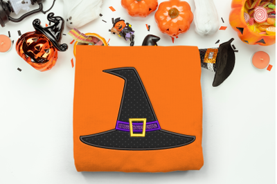 Halloween Witch Hat | Applique Embroidery