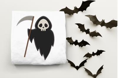 Cute Grim Reaper | Applique Embroidery