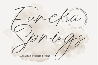 Eureka Spring Chic Signature Font