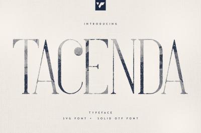 Tacenda - Textured + Rough Fonts