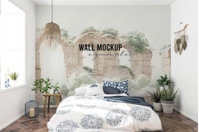 Wall mockup, Wall paper mockup