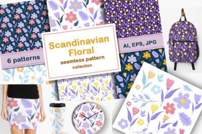 Scandinavian Floral pattern set
