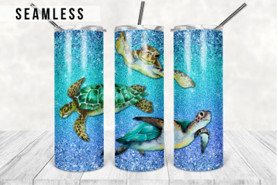 Sea Turtles Sublimation Tumbler Designs, Ocean 20oz Skinny Tumbler