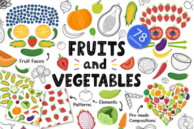 Fruits and Vegetables Graphics Collection