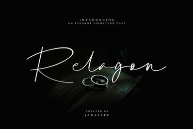 Relagon Signature Font