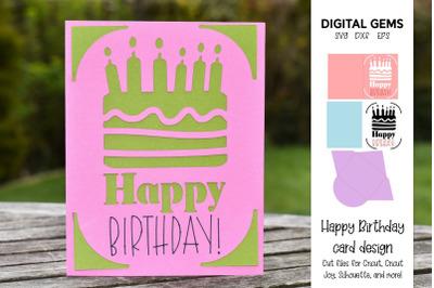 Birthday cake card design