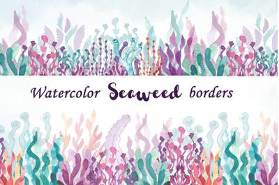 Seamless Seaweed Borders clipart