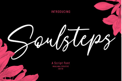 Soulsteps Signature Font
