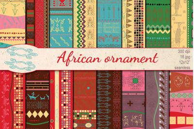 African Ornament Ethnic seamless patterns