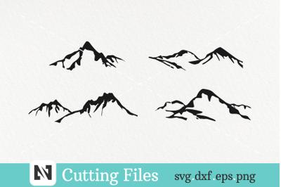 Mountain Svg, Mountain Silhouette Svg, Mountain Clip Art