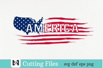 American Flag Svg, Distressed USA Flag Svg, Grunge Flag Svg