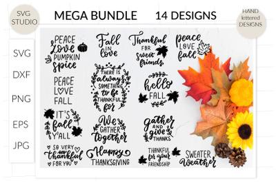 Thanksgiving quotes svg MEGA bundle, thanksgiving svg, fall