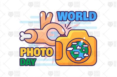 World Photo Day Illustration