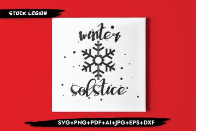 Winter Solstice Snow SVG