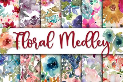 Floral Medley Digital Papers