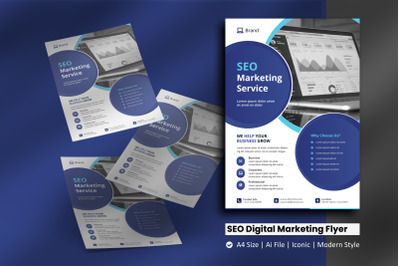 SEO Digital Marketing Flyer Template