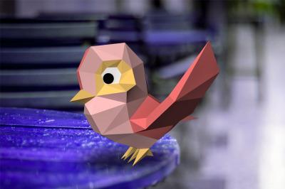 DIY Toon Bird - 3d papercraft