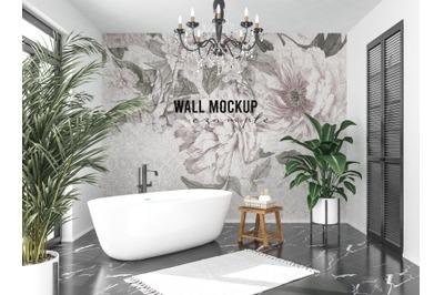 Wall mockup, Wallpaper mockup