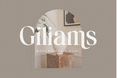 Giliams - Modern Ligature Serif