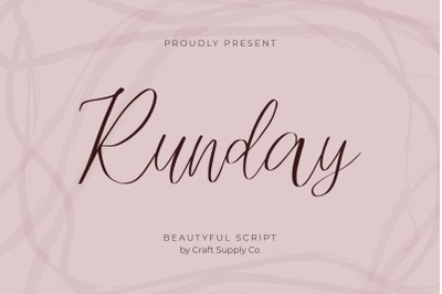Runday - Modern Script Font