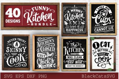 Funny Kitchen Bundle SVG 40 designs vol 1