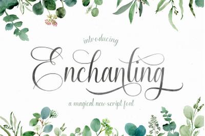 Enchanting Script Font (Wedding Fonts, Script Fonts, Love Fonts)