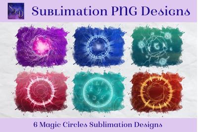 Sublimation PNG Designs - Magic Circles Images