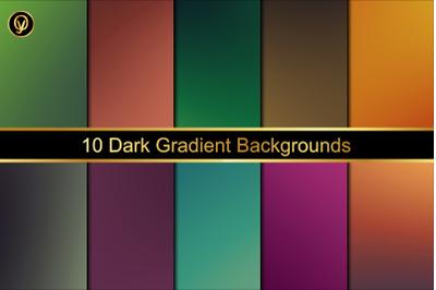 10 Dark Gradient Backgrounds