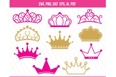 Crown SVG, Crown clip art, Princess crown vector