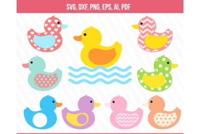 Duck SVG, Rubber duck svg, Baby duck clipart, vector