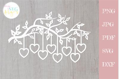 Family tree svg 8 members, tree branch svg 8 hearts
