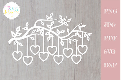 Family tree svg 9 members, tree branch svg 9 hearts