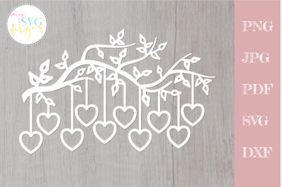 Family tree svg 10 members, tree branch svg 10 hearts