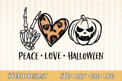 Peace love Halloween SVG cut file
