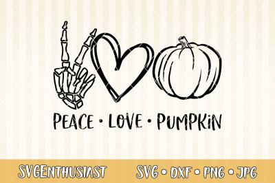 Peace love pumpkin SVG cut file
