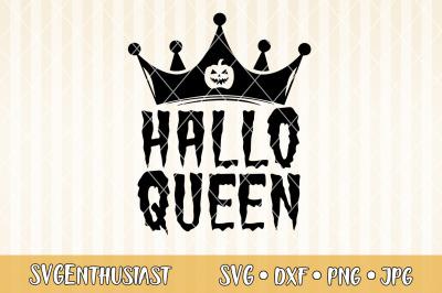 Halloqueen SVG cut file