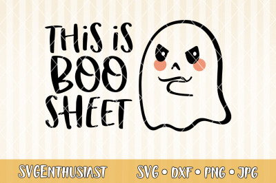 This is boo sheet SVG cut file