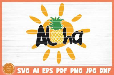 Aloha Summer Beach SVG Cut File