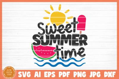 Sweet Summer Time Summer Beach SVG Cut File