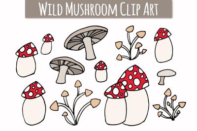 Wild Mushroom Clip Art