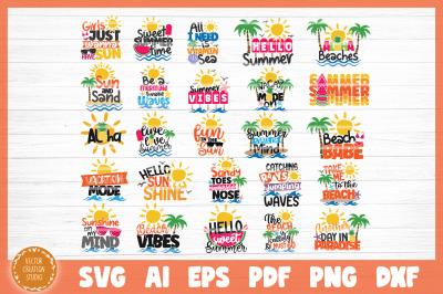 Summer Beach SVG Bundle Cut Files