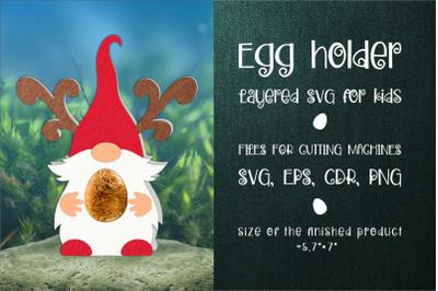 Christmas Gnome Chocolate Egg Holder SVG