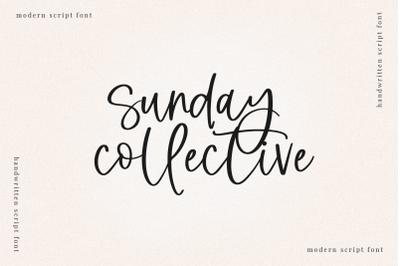 Sunday Collective - Handwritten Script Font