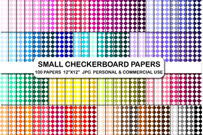 Small Checkerboard Digital Printable Background Papers Pack
